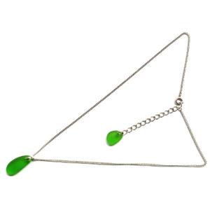 BN-66 グリーン シーグラスネックレスC